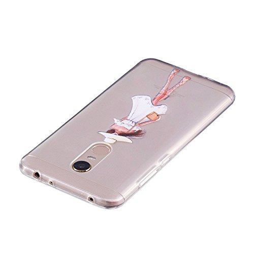 Xiaomi Redmi 5 Case,Xiaomi Redmi 5 Cover,Cozy Hut Ultra Thin Soft Gel TPU Silicone Case Cover for Xiaomi Redmi 5 Shock-Absorption Bumper Case with Anti-Scratch Pattern Back for Xiaomi Redmi 5 - waterm Fashion girl