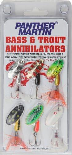 Pantera Martin Bass y Trucha Annihilator Spinner señuelo de Pesca Kit, Pack de 6: Amazon.es: Deportes y aire libre