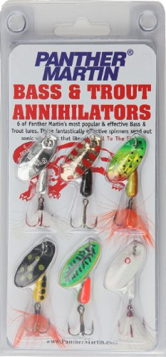 (Panther Martin Bass and Trout Annihilator Spinner Fishing Lure Kit, Pack of 6)