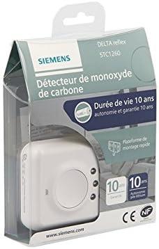 Garantie 10 ans Siemens Delta Reflex Certifi/é NF Autonomie 10 ans Siemens DAACO D/étecteur de monoxyde de carbone