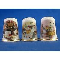 Porcelana China colección de dedales de Tres Gatos