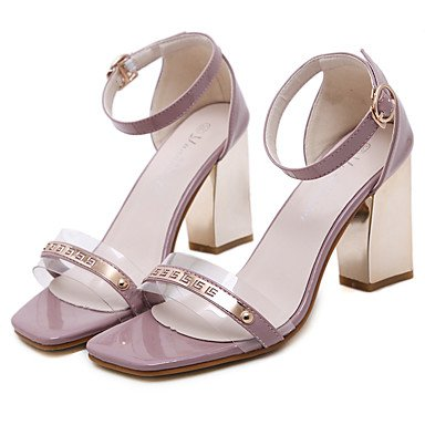 LvYuan Mujer-Tacón Robusto-Innovador Gladiador Zapatos del club Confort-Sandalias-Boda Exterior Oficina y Trabajo Vestido Informal Deporte Red