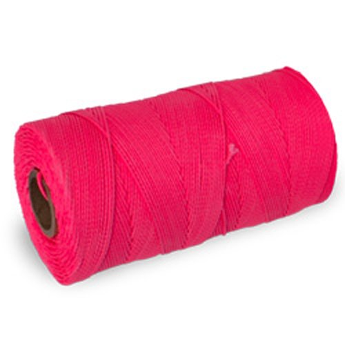 CWC Braided Mason Twine - #18 x 1100', Neon pink (Pack of 12 tubes)