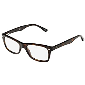 Ray-Ban Women's Rx5228 Square Eyeglasses,Dark Havana,50 mm