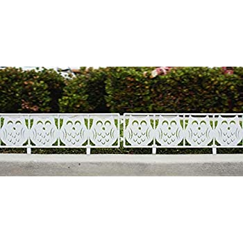 Amazon Com White Owl Garden Fence Panels 7 Ft Yard