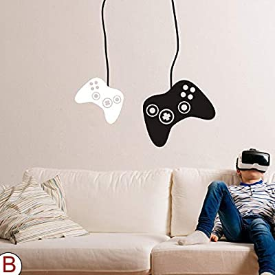 FlyWallD Game Wall Decal Boys Gamer Room Gaming Decals Bedroom Decor Video Game Controller Vinyl Art Stickers: Home & Kitchen