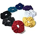 Hair Elastics Scrunchies Athletic Lycra Scrunchies Hair Ties Workout Running Yoga Swimming Lycra Scrunchies Choice of Colors.Set of 3