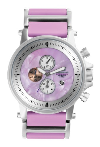 Vestal Plexi Acetate Watch Silver/Silver/Pink/Pink, One Size