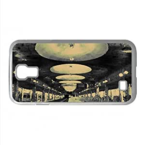 Railroad Station Black And White Watercolor style Cover Samsung Galaxy S4 I9500 Case
