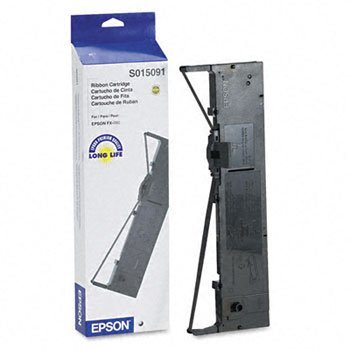 (EPSON S015091 Printer Ribbon, Nylon, Black (Case of 3))
