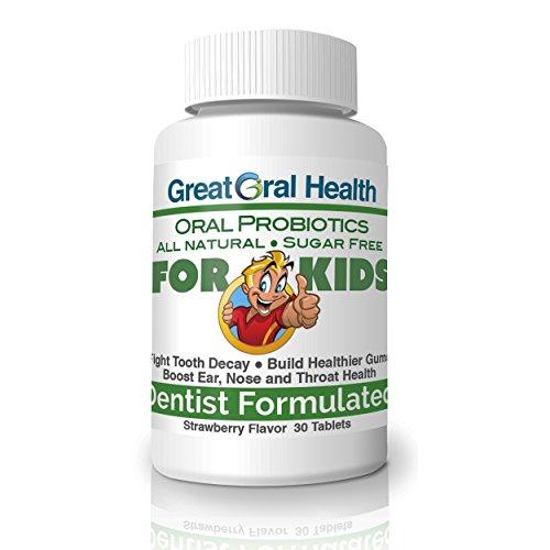 ENFANTS à croquer Orale souches de probiotiques-7 avec BLIS K12 & M18. Lutter contre la carie dentaire & de cavités, améliorer la santé des gencives & d'hygiène dentaire, soutien immunitaire contre les maux de gorge, les rhumes et les Infectio