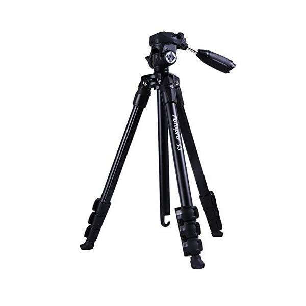 RetinaPix Fotopro S3 4-Section 57 Inch Aluminum Photo & Video Tripod with 2 Way Panhead Payload - 2.5kg (Black)