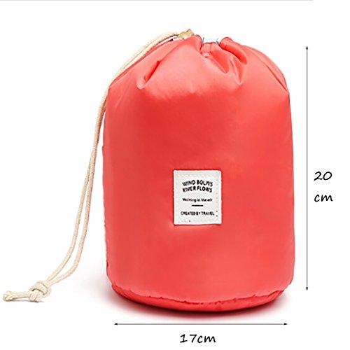 Capacità Viaggio Lavaggio Colore Multifunzione Sacchetto Arancia Stoccaggio Cosmetico Pacchetto Cilindrica Clothes Alta Di SX8Xwa