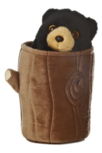 Bear Plush Hand Puppet - Aurora World Pop Up Black Bear 11