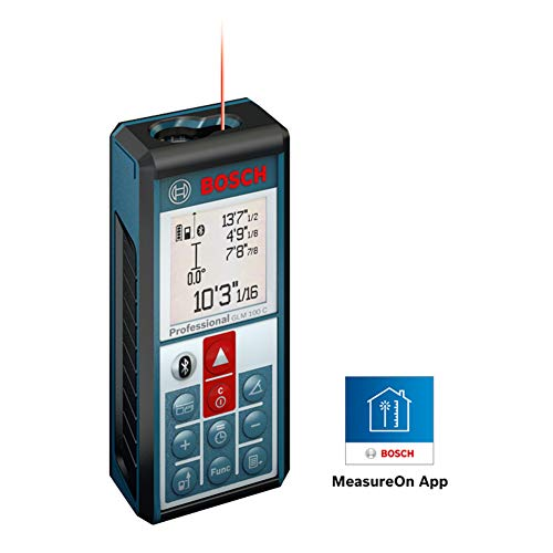 Bosch Bluetooth Enabled 330-Foot Lithium-Ion Laser Distance and Angle Measurer GLM 100 C