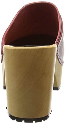 Platform ZPSXY4Q2k0e Wine swedish hasbeens Sandal Red Women's qawxtHxO