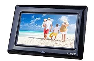 Andoer 8'' HD TFT-LCD Marcos Digital de Fotos MP3 MP4 Movie Player con Escritorio Remoto Negro