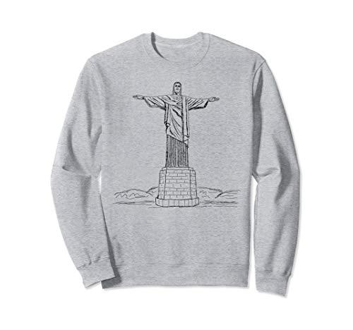 Christ the Redeemer Statue, Rio de Janeiro Brasil Christian Sweatshirt]()