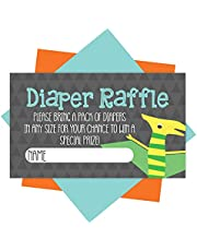 25 Baby Shower Diaper Raffle Tickets For Baby Shower Boy - Dinosaur Baby Shower Games For Boys, Diaper Raffle Cards, Baby Raffle Tickets, Baby Shower Invitation Inserts, Baby Shower Ideas