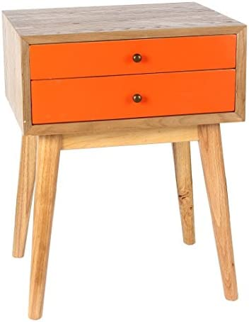 Porthos Home Wright Side Table, Orange