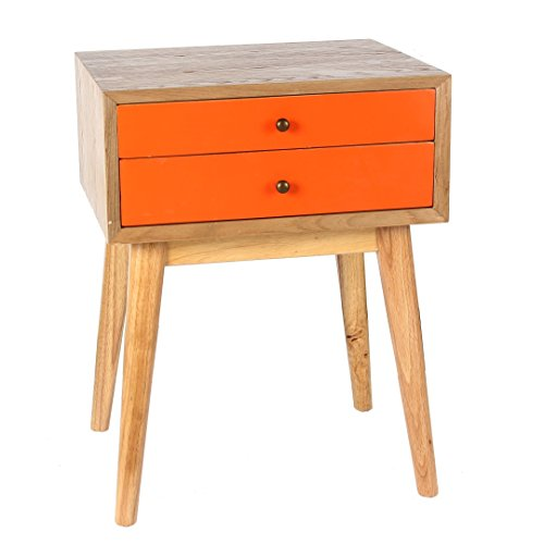 Antique Revival CB138A ORG Wright Side Table, Orange