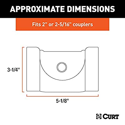 CURT 23081 Powder-Coated Aluminum Trailer Tongue Lock for 2 or 2-5/16-Inch Couplers: Automotive