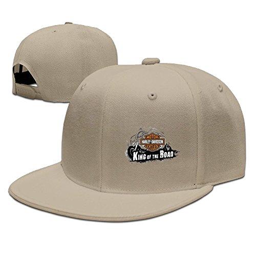 LALayton Unisex Harley Davidson Logo Funny Flat Baseball Cap - Natural -