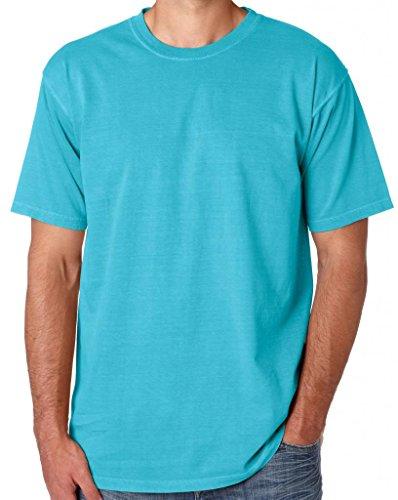 Mens 100% Cotton Pastel Color Tee Shirt, 2XL Lagoon (Powder Blue Shirt)