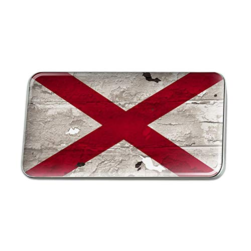 GRAPHICS & MORE Rustic Distressed Alabama Flag Metal Rectangle Lapel Hat Pin Tie Tack Pinback