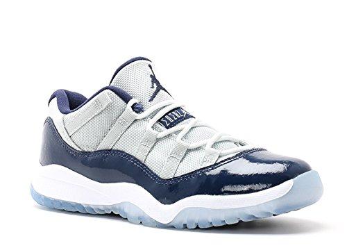 [505835-007] AIR Jordan 11 Retro Low (PS) PRE-School Shoes Grey Mist White Midnight Navy