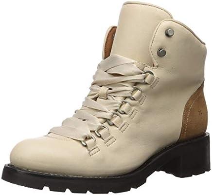 Frye Women S Alta Hiker Combat Boot Off Off White 6 M Us Amazon Sg Fashion