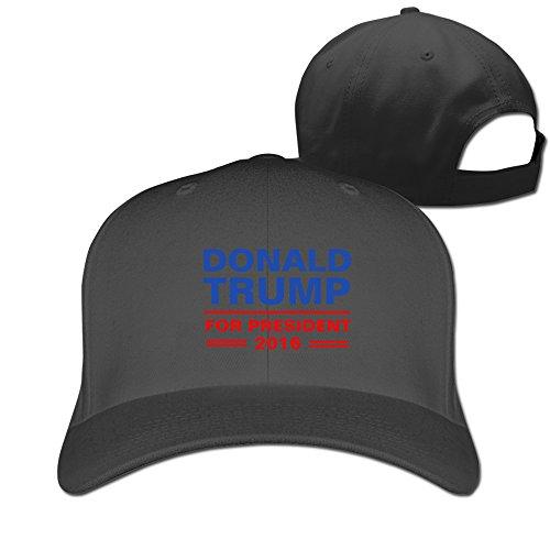 Trump 2016 Election Adjustable Fitted Cap Baseball Cap Black -