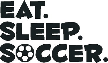 Vinyl Wall Decal Eat Sleep Soccer Kids Room Sports Outdoors Wall Decor 12'' X 20'' by G & B Vinyl Decals