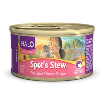 Halo Spot's Stew Succulent Salmon Recipe Canned Cat Food, My Pet Supplies