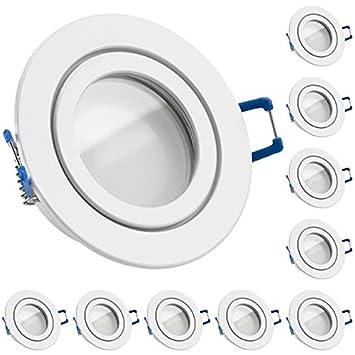 IP44 Einbaustrahler Bad Einbauleuchte Feuchtraum LED GU10 230V 2W 3W 4W 5W 6W