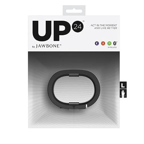 Jawbone UP24 - Pulsera para seguimiento de actividad (Bluetooth 4.0, compatible iOS y Android, talla S)- Negro