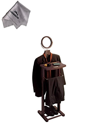 Valet Stand with Mirror, open base and With Chanasya Polish Cloth