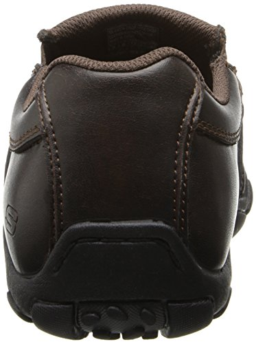 Skechers Usa Heren Diameter-zenuwen Slip-on Loafer Bruin Lederen