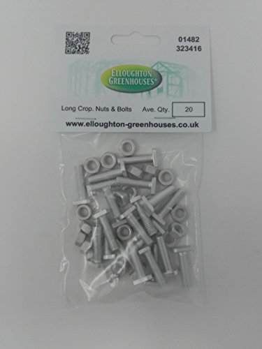 (20 Long Cropped High Tensile Greenhouse Nuts & Bolts)