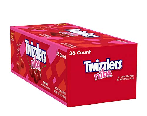 36 Piece Twizzlers Nibs Cherry Candy (2.25 oz Bags). ()