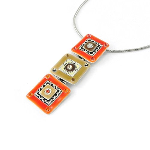 Necklace 'french touch' 'Esmeralda' orange. - Esmeralda Costume Pattern