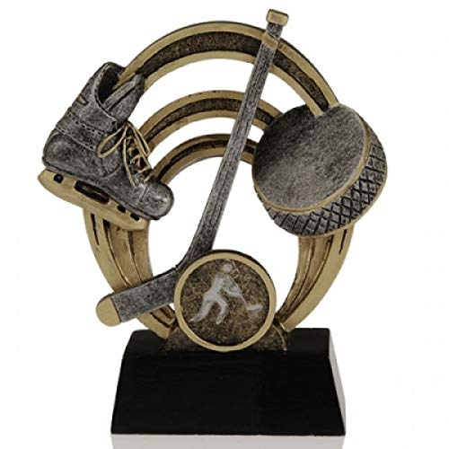 Decade Awards  Ice Hockey Halo Trophy  Ice Hockey Award | 5 Inch Tall - Free Engraved Plate on Request ()