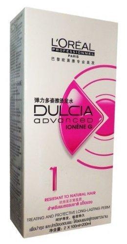 L'oreal Paris Dulcia Ducia Advanced Ionene Permanent Perm Long Lasting Curl No.1 Resistant to Natural Hair by L'oreal Paris