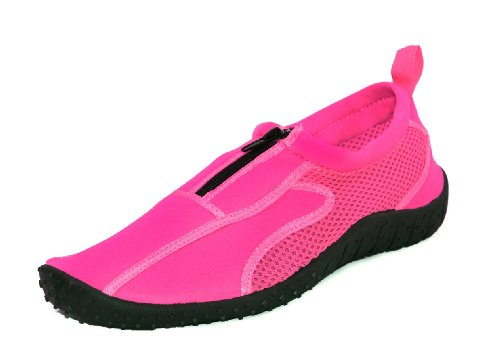 Pink Footwear Rockin Neon Aqua Women's Shoe Rubber Water Zippers 86axgw8