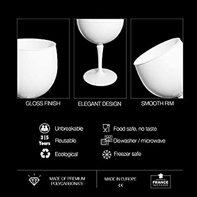 RB Copas Balon Gin Cóctel Blanco Plástico Premium Irrompible ...
