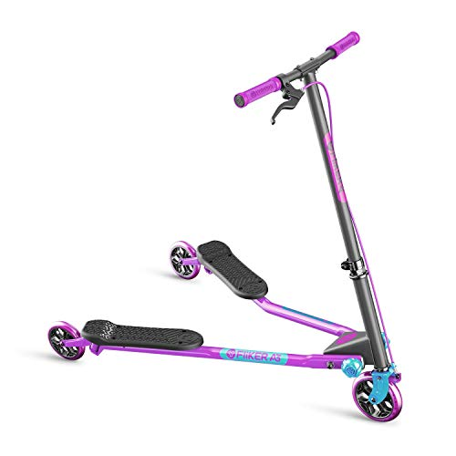 - Yvolution Y Fliker Air A3 Kids Drifting Scooter (Purple/Light Blue)