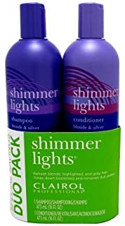 Clairol Shimmer Lights Combo 16 Oz. Shampoo/16 Oz. Conditioner Blond Silver