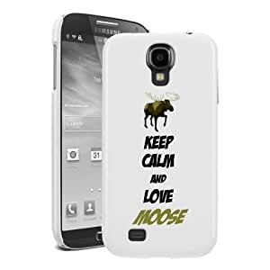 Pink Ladoo? Samsung S4 Case Phone Cover Hard Plastic Keep calm And Love Moose S