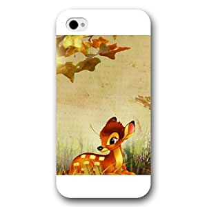Customized White Frosted Disney Cartoon Movie Bambi iPhone 4 4s case