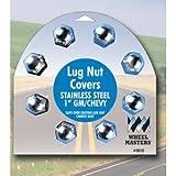 WHEELMASTER EXTERIOR HARDWARE RV 8pk 1-1/16in SS LUG NUT COVERS